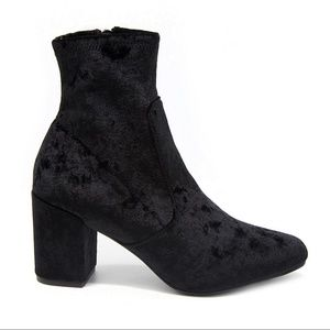 Adorable Velvet Ankle Boot by Rampage